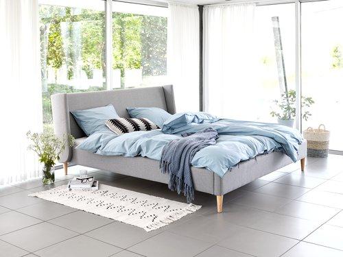 Рамка за легло KUNGSHAMN 160x200 св.сива