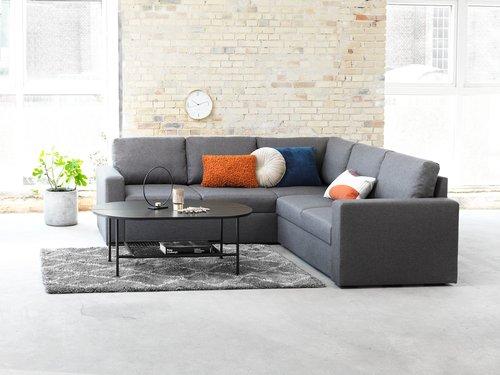 Soffbord HINNERUP 75x120 svart