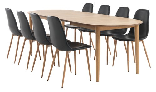 Dining table EGENS 90x190/270 oak