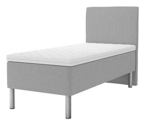 Sänggavel 105x125 H30 svängd grå-27