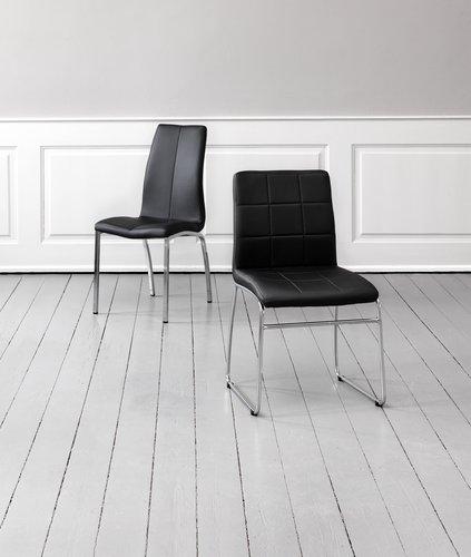 Кухненски стол HAVNDAL черен/хром