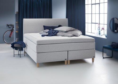 Sänggavel 180x125 H30 svängd grå-32