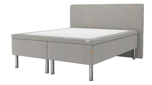 Sänggavel 200x125 H30 svängd grå-29