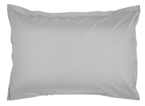 Pillowcase percale 50x70/75 light grey