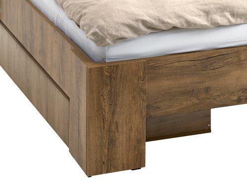 Ліжко MANDERUP 140x200см дикий дуб