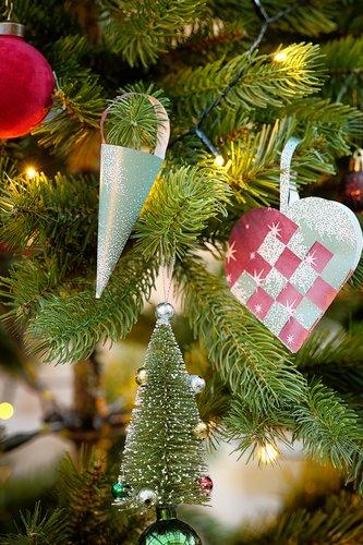 Kerstboomversiering OLIVIN 2st/pk