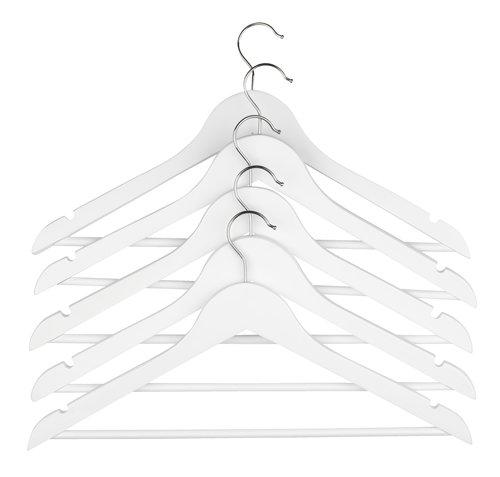 Hangers HELMUT wood white 5 pack