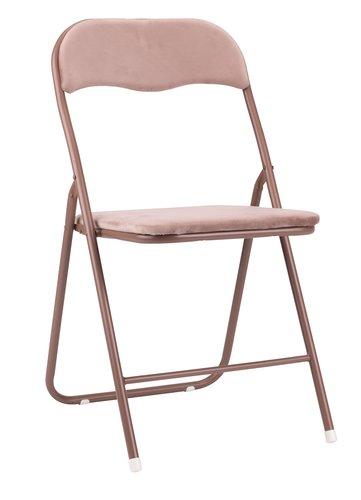 Folding chair VIG velvet rose