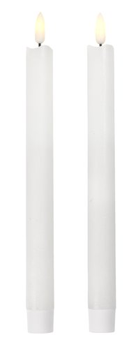 Taper candle CALLE H25cm w/LED 2 pack