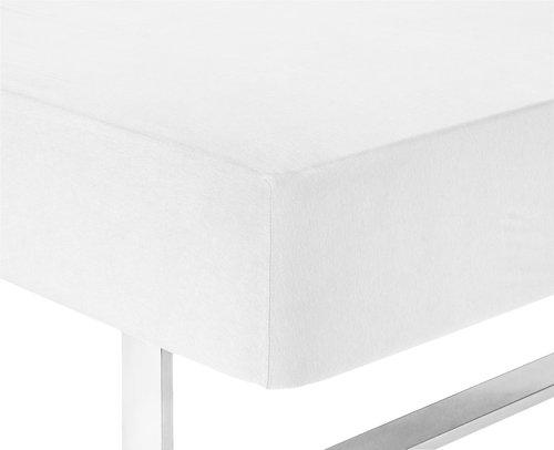 Prześcier. dżersej 160x200x25cm białe
