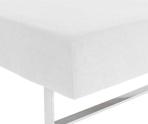 Prześc. frotte 170/180x200x25cm białe