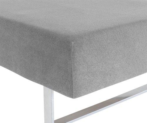 Hoeslaken badstof 140/150x200x35 grijs