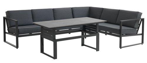 Lounge set VONGE 6 lug preto