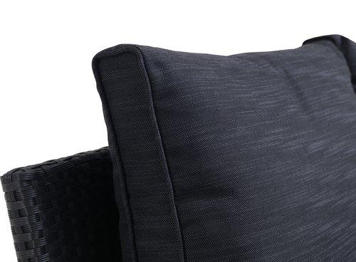 Loungesett ULLEHUSE 6 seter svart