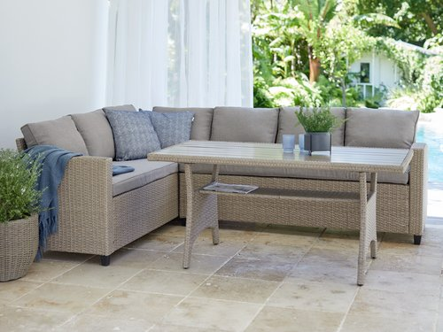 Loungeset ULLEHUSE 6-persoons naturel