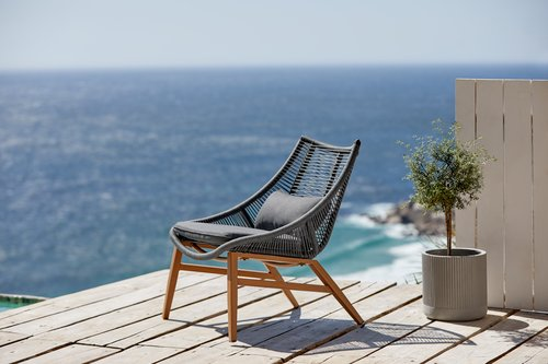 Lounge stolica DANNEMARE siva