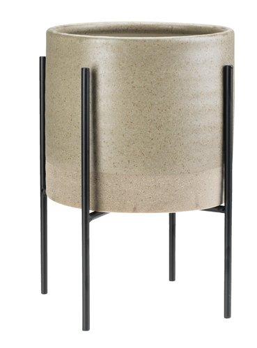 Maceta MANDRUP Ø18xA28 cm con soporte