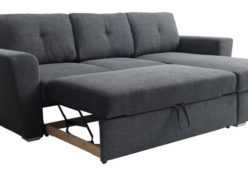 Groovy Sofa Bed Chaiselongue Vejlby Dark Grey Jysk Inzonedesignstudio Interior Chair Design Inzonedesignstudiocom