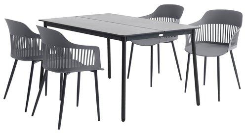 Vrtna miza AGERMOSE Š90xD150 siva