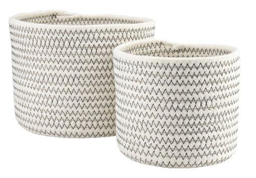 Basket TORFINN Ø19/14xH15/13cm 2 pack