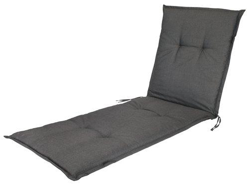 Cushion sun lounger BENNEBO black/grey