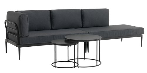 Tafelset MOELV Ø65/48 grijs