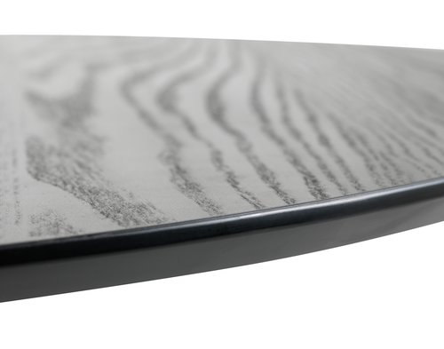 Matbord RINGSTED Ø100 svart