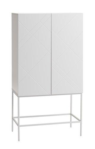 Cabinet LADBY 2 door pattern white