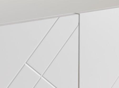 Szekrény LADBY 2 ajtós mintás fehér