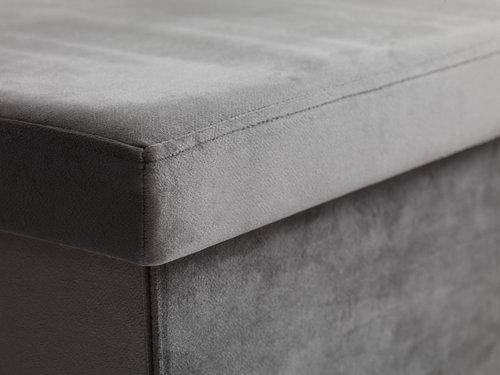 Pouffe AUNING 76x38 velvet grey