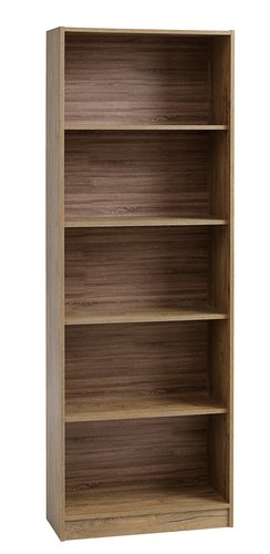 Bookcase HORSENS 5 shelves wild oak