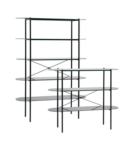 Bookcase PADBORG 5 shelves black