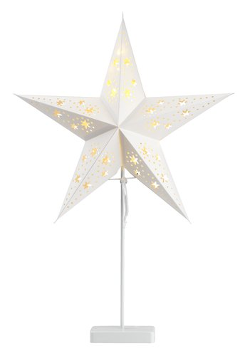 Stjerne GULDTOP B45xL19xH66cm hvid mLED