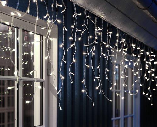 Veriga luči GUTTORM ledena sveča z LED