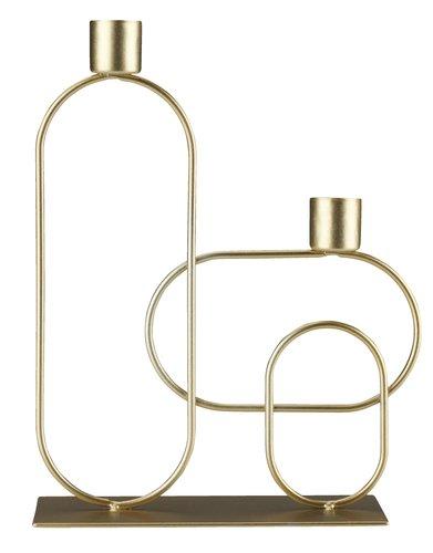 Candlestick ERVIN W17xL7xH23cm gold