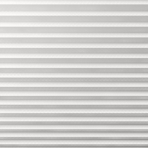 Plisségardin Mörkl. HVEN 120x130 vit
