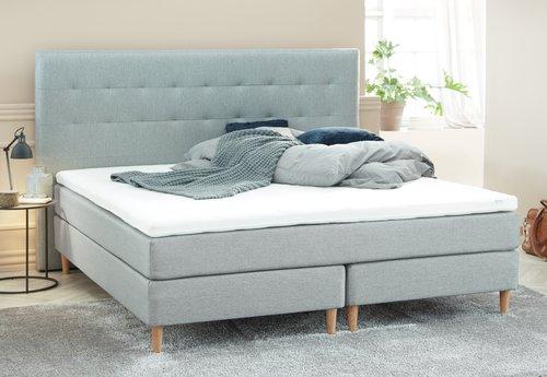 Sänggavel 200x125 H50 söm grå-27