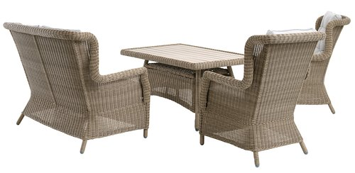 Table de jardin FALKENBERG l81xL124 nat
