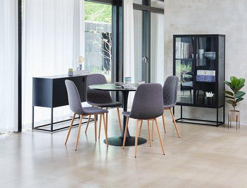 Dining chair JONSTRUP asphalt/oak