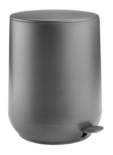 Cubo pedal OXIE 5L cierre suave gris osc