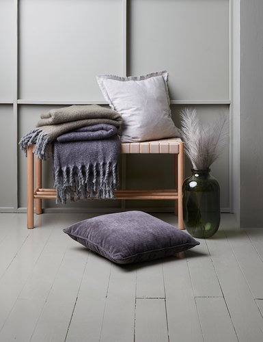 Cushion KLOKKELYNG 45x45 grey