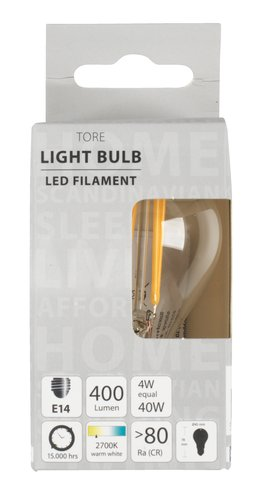 Light bulb TORE 4W E14 LED 400 lumen