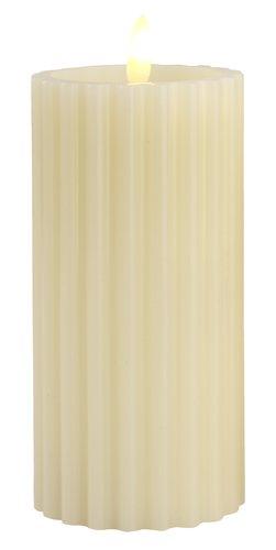 Svíčka ODEN Ø8xV15cm bílá s LED