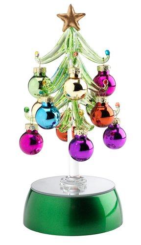 Karácsonyfa AURBODA gömbökkel LED