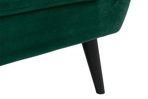 Sofa EGEDAL 2,5-pers. velour grøn