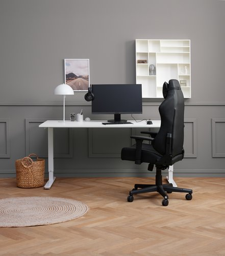 Adjustable desk STAVANGER 80x160 white