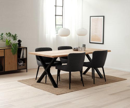 Dining table HELLERUP 95x200 oak