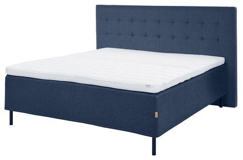 Hoofdeinde 200x125 H50 gestikt blauw-85