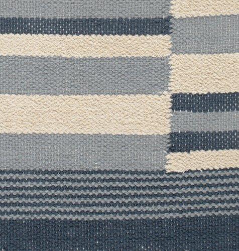 Rug SKJOLDBLAD 90x150 off-white/blue