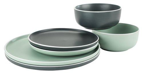 Тарелка ELIAS Ø20 см серый